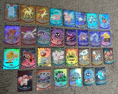 LOOK- POKEMON TV ANIMATION (FOILS) - TOPPS 1999 - (LOT of 30) - All 1st Series