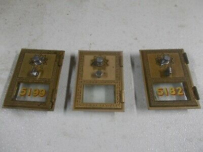 3 Vintage Post Office Box #1 Doors Bank Lock Box Door in Original Condition
