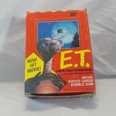 1982 Topps E.T. THE EXTRA TERRESTRIAL Movie Trading Card Box 36 Sealed Packs