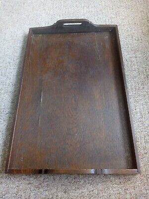 Antique wooden butlers tray Victorian Edwardian Large
