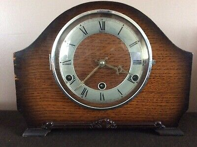 Perivale andrew vintage mantle clock with Westminster chime pendulum