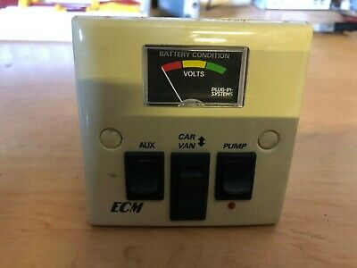 Caravan / Motorhome Clipsal 12v Switched Control Panel with Battery Volt Meter
