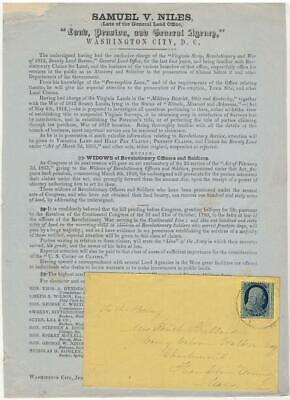 1857 - Military Land Patent Assistance: Revolution, 1812, Mexican, & Indian Wars