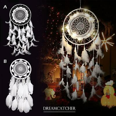 Dream Catcher Light Home Decor Lace Flower Feather Bedroom Hanging Decor Gift