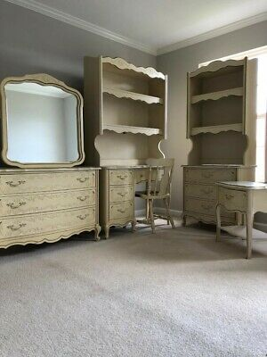 FRENCH PROVINCIAL VINTAGE Girls Bedroom Furniture Mirror By ...
