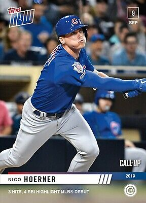 2019 TOPPS NOW NICO HOERNER #820 CUBS CALL UP RC pre sell