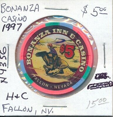 $5 Casino Chip - Bonanza Fallon, Nv 1997 H&C #N9356 Nice Gaming Token Gambling