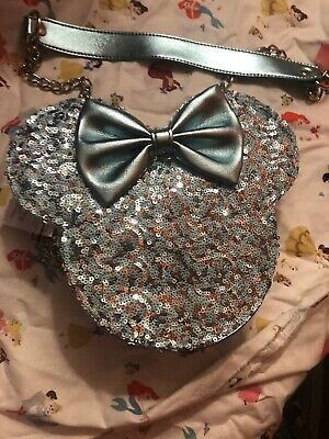 Disney Parks Loungefly FROZEN  Arendelle Aqua Sequin Hipster/crossbody