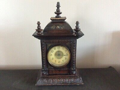 JUNGHANS Antique Musical German Mantel Shelf CASTLE Clock
