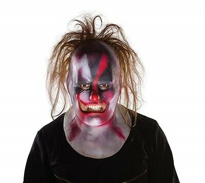 Official Slipknot Clown Full Mask with Hair One Size