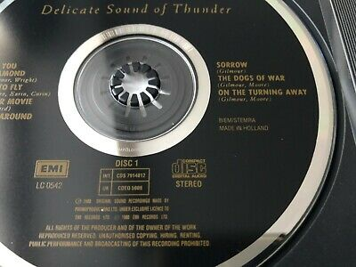 Pink Floyd - Delicate Sound Of Thunder - Made In Holland Version - 2CD Fat Box