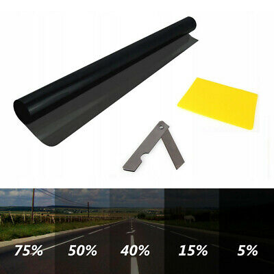 LIGHT BLACK 50% LVT CAR WINDOW TINT 6M x 75CM FILM TINTING NEW