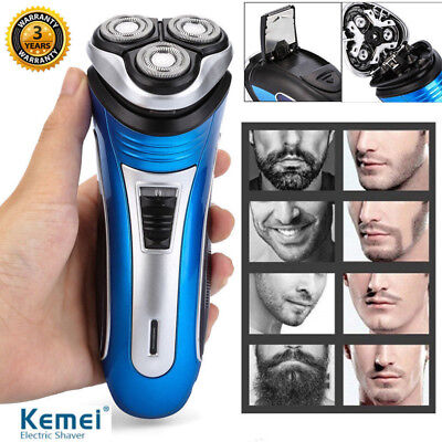 Mens Electric 3D Triple Floating Head Rotary Shaver Rechargeable Trimmer Razor
