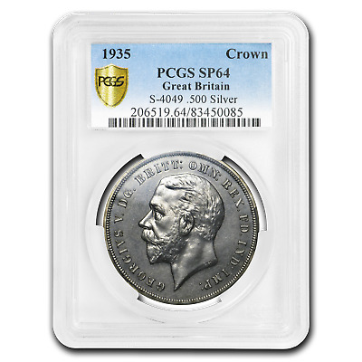 1935 Great Britain Silver Crown George V SP-64 PCGS - SKU#197741