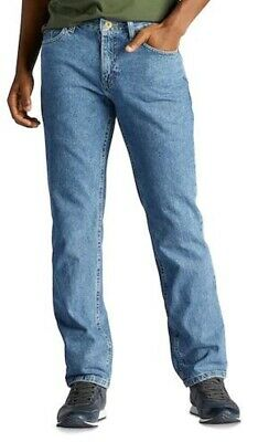 Mens New 34 x 34 Urban Pipeline Regular Fit Medium Stone Wash Straight Leg Jeans