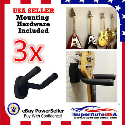 3-PACK Guitar Hanger Hook Holder Wall Mount Display Acoustic Electric US