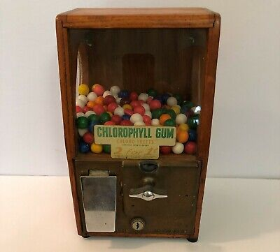 "VINTAGE VICTOR 1950's ONE CENT GUMBALL MACHINE ""WORKING CONDITION"" MADE IS USA"