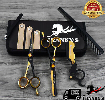 Professional Scissors Barber Salon Shears Hairdressing Set Cutting Thinning 6.5