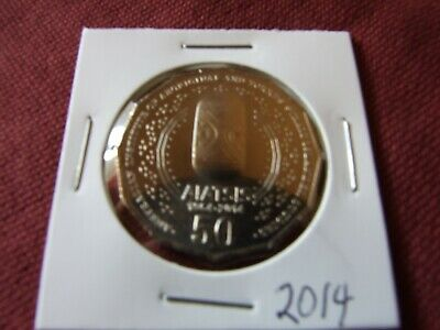 2014 UNC or BETTER 50 cent coin, AIATSIS from mint bag in 2x2 holder