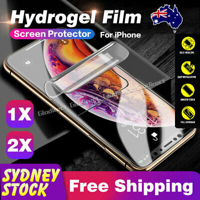 For iPhone 11 XR XS Max 6s 7 8 Plus HYDROGEL Screen Protector Film Full Cover AU