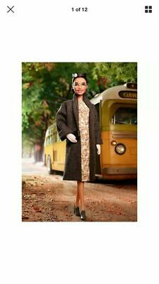 Rosa Parks Barbie Inspiring Women Doll FXD76  IN HAND READY TO SHIP NOT PREORDER