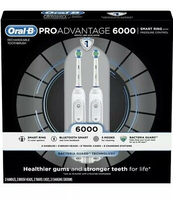 Oral-B ProAdvantage 6000 Power Rechargeable Toothbrush 2 pk. New In Open Box