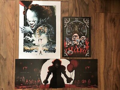 IT Chapter 2, Part 1 and 2 Complete Set, IT 2017 Posters, Bonus Jigsaw NEW