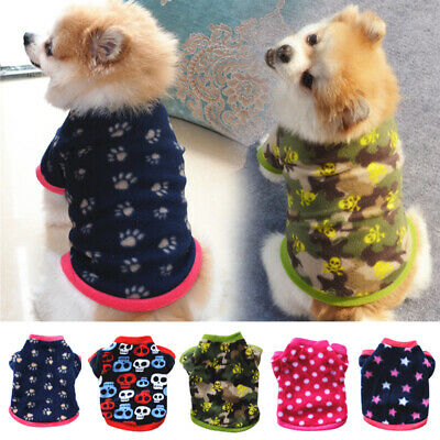 Pet Small Dog Warm Soft Fleece Sweater Shirt Coat Puppy Pullover Clothes Apparel