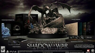 Playstation 4 PS4 MIDDLE EARTH SHADOW OF WAR Mithril Edition Complete