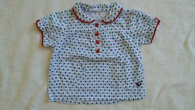 Tuc Tuc baby girl's flower print shirt. Age 12 to 18 months. Spanish baby brand