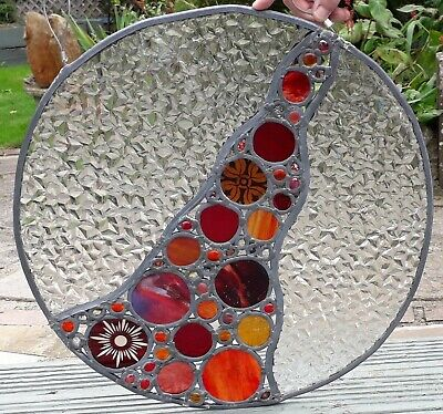 Round Hanging Stained Glass Leaded Window Cathedral Glass