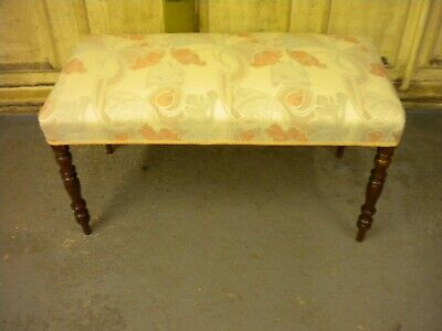Antique  One Met Long Stool Upholstered