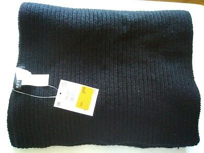 Reserved Black Wooly Scarf, Thick, Mens, Warm, BNWT. Winter, Gift, Xmas, For Him