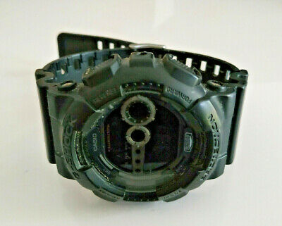 Mens Black Casio G-Shock GD-100 Shock Protection Watch