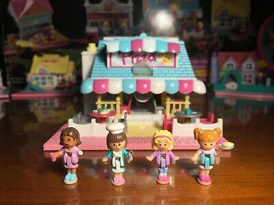 Vintage Bluebird Polly Pocket Pizzeria 1993 with all 4 figures