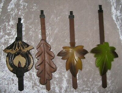 "Lot of 4 Different Cuckoo CLOCK PENDULUMS Sizes 6 3/8"" TO 7 1/2"" Long Some NOS"