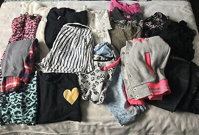 Girls Age 11-13 Years Huge Clothes Bundle Dresses Hoodys Jeans Tops 19 Items