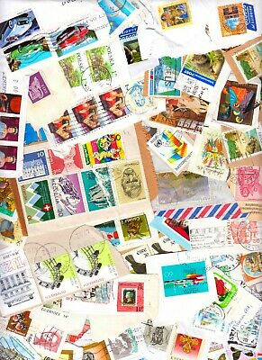 50g World Kiloware – On-Paper Mix of 150+ Stamps