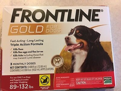 Merial Frontline Plus For Dogs 89 - 132 lb