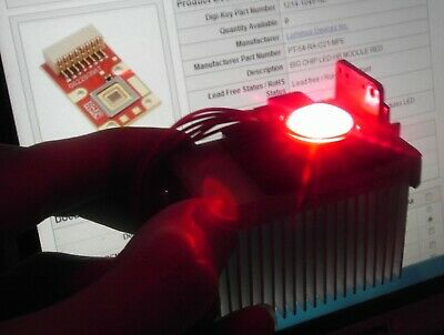 PT-54 RED LED CHIP Luminus Devices Phlatlight +heatsink fiber optics illuminator