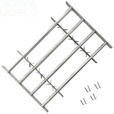 vidaXL Adjustable Security Grille for Windows with 3 Crossbars 1000-1500 mm