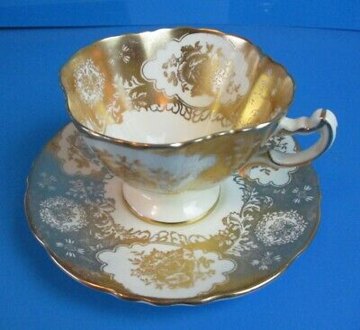 Hammersley Cup & Saucer  Heavy Gold Designs Excellent Condition
