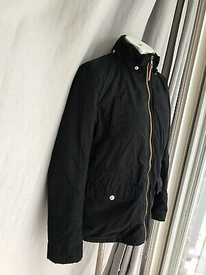 H& M Girls Navy Quilted Jacket Coat Outerwear 10-11 Y