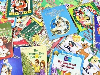 Christmas Little Golden Books Lot of 10 Unsorted Mixed Titles