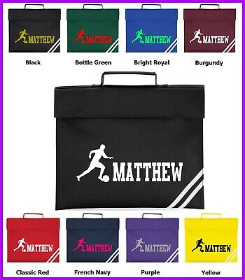 Personalised Football Bag, Rugby Boys Soccer Lovers Classic Book Children Bag