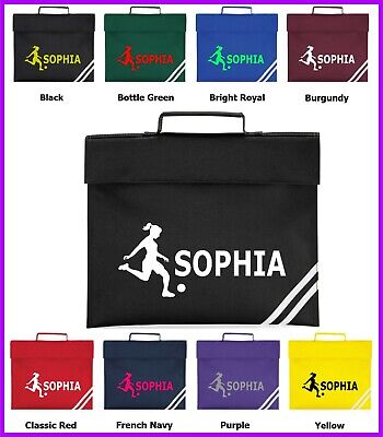 Personalised Football Bag, Rugby Girls Soccer Lovers Classic Book Children Bag