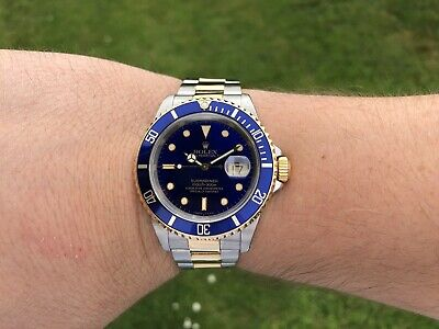 Rolex Submariner 16613LB | Boxed | 1990 Year | Gold & Steel | Immaculate