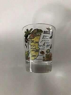 Belize Very Colorful Shot Glass
