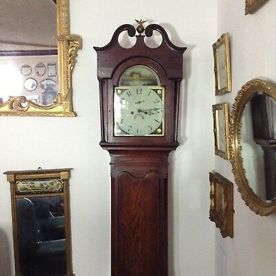 Antique Oak Grandfather Clock