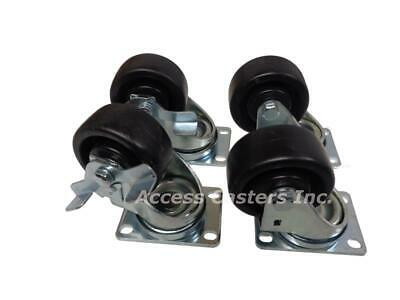 AC-136043 Caster set of 4 used on Norlake Equipment